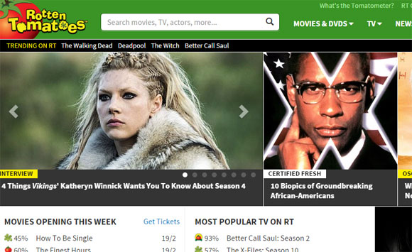 Movie ratings site rotten tomatoes impartiality in jeopardy after rotten tomatoes top 10 films ccuart Choice Image