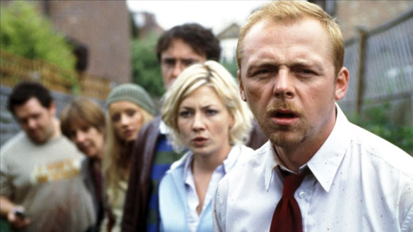 shaun of the dead, edgar wright, simon pegg, nick frost, british horror comedy, zombies,