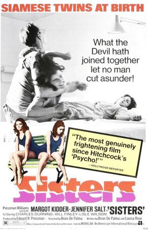 sisters, de palma, best 70s horror,