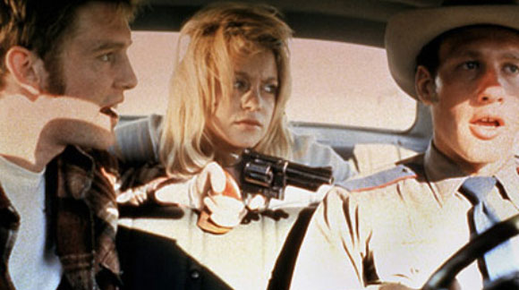 Goldie Hawn and William Atherton in Steven Spielberg's The Sugarland Express