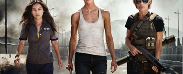 "Terminator sequel - 2019 - Natalia Reyes as ""Dani Ramos"" Mackenzie Davis as ""Grace"" Linda Hamilton as ""Sarah Connor"""