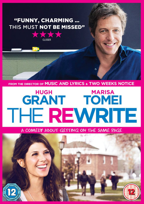 The Rewrite, UK DVD Cover, Hugh Grant, Top 10 Films,