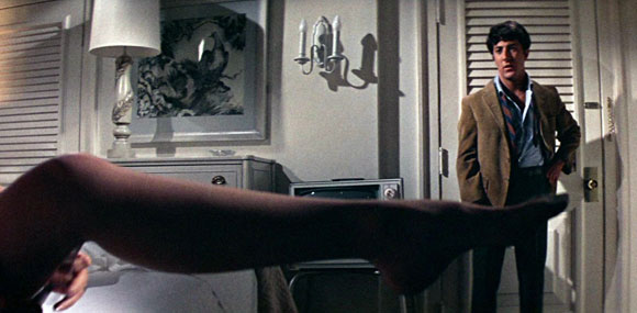 Mike Nichols' iconic shot of Anne Bancroft's leg in front of Dustin Hoffman