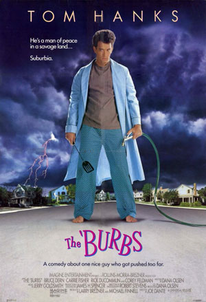 the burbs, film, horror, comedy, tom hanks,