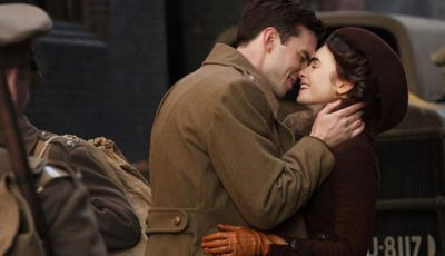 Nic Hoult and Lily Collins in Tolkien