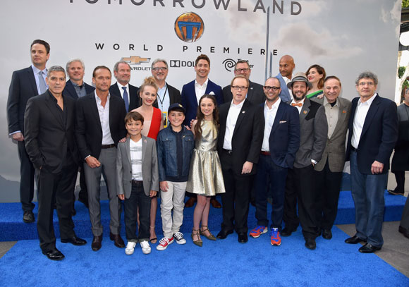 Tomorrowland World Premiere at Disneyland with George Clooney