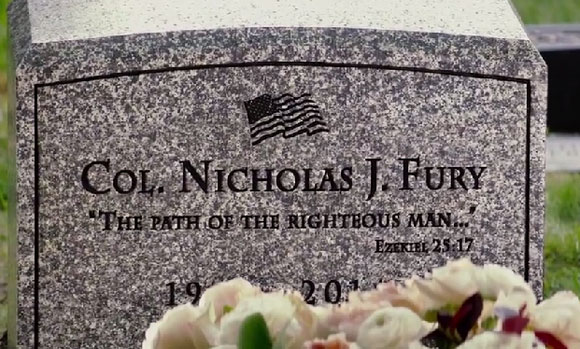 Nick Fury Grave / Pulp Fiction Reference