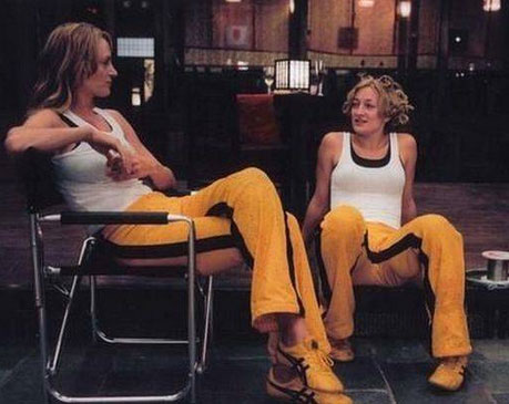 Uma Thurman and Zoe Bell in Kill Bill