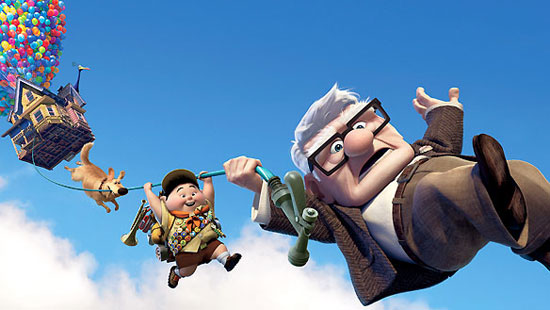 Up, film, Pixar, top 10 cgi animation,